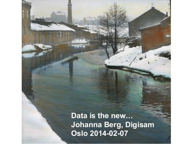 Johanna Berg Oslo 2014-02-07