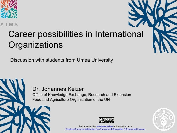 Career possibilities in International Organizations: Discussion with students from Umea University