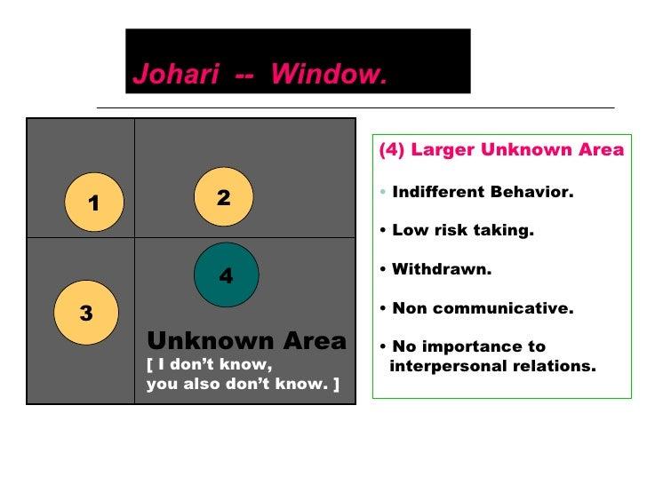 the importance of the joharis window to teachers