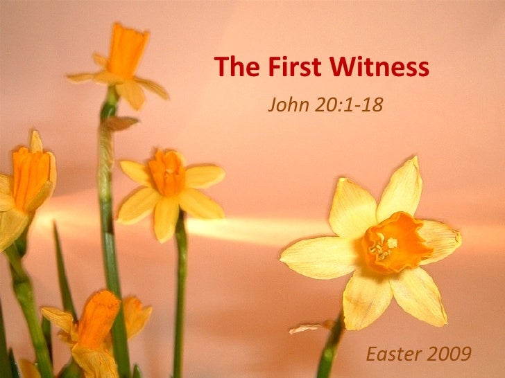 The First Witness John 20:1-18 Easter 2009