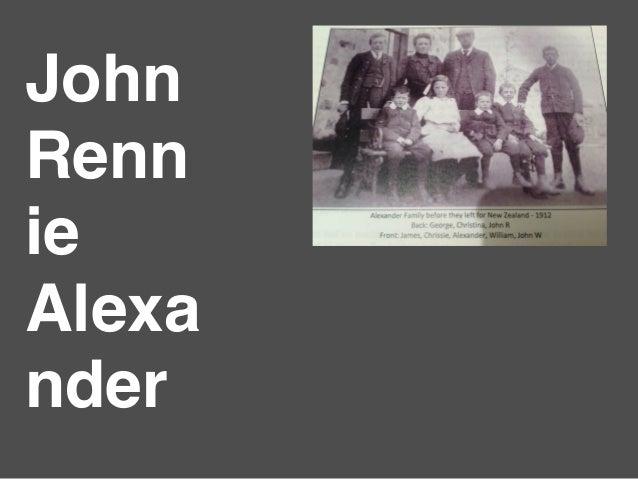 John rennie alexander