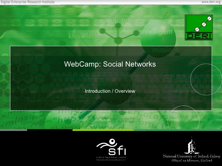WebCamp: Social Networks Introduction / Overview