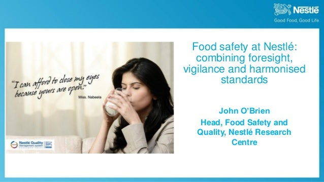 John O'Brien - food safety in R&D