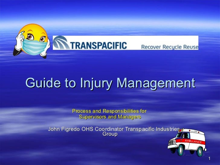 John 1   Guide To Injury Management 2011.Ppt Updated