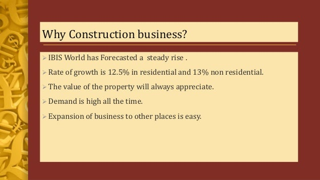Business plan of construction company
