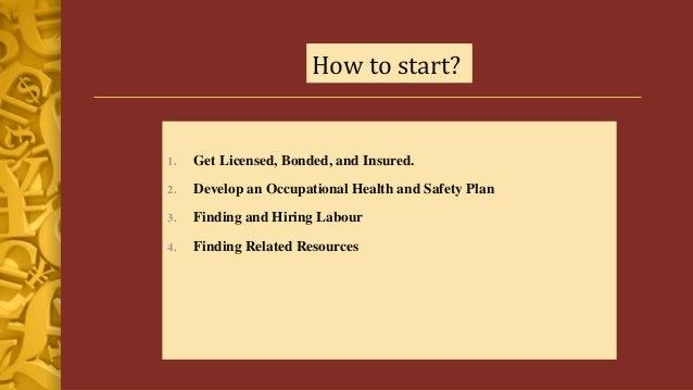 Business plan construction
