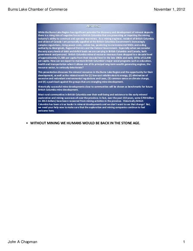 John A Chapman push back against anti-development voices 20121101