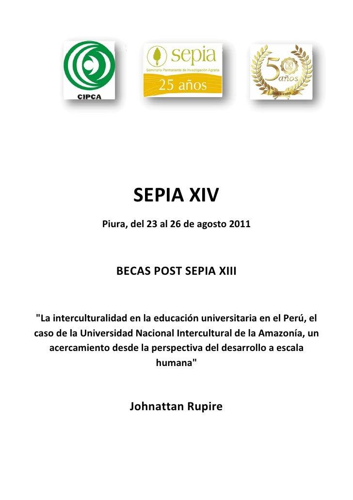 La interculturalidad en la educación universitaria en el Perú, el caso de la Universidad Nacional Intercultural de la Amazonía, un acercamiento desde la perspectiva del desarrollo a escala humana. Por Johnattan Rupire