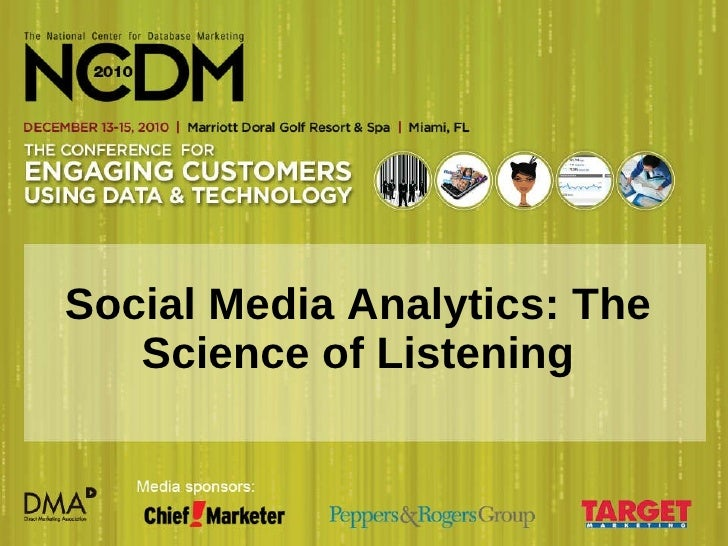 Social Media Analytics: The Science of Listening