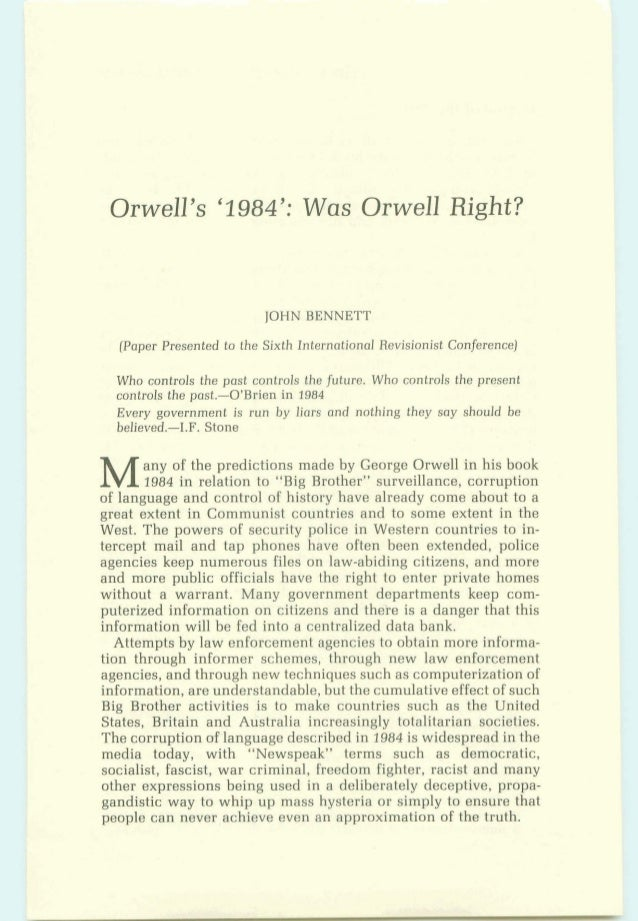 a comprehensive analysis and conclusion of 1984 by george orwell Orwell had criticised the communist party of great britain for supporting the treaty in his essays for critical analysis of orwell, george 1984.