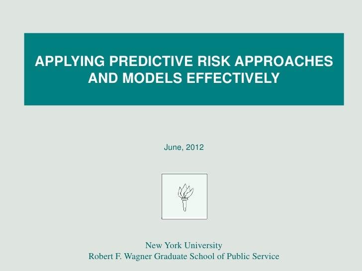 John Billings: Applying predictive risk approaches and models effectively