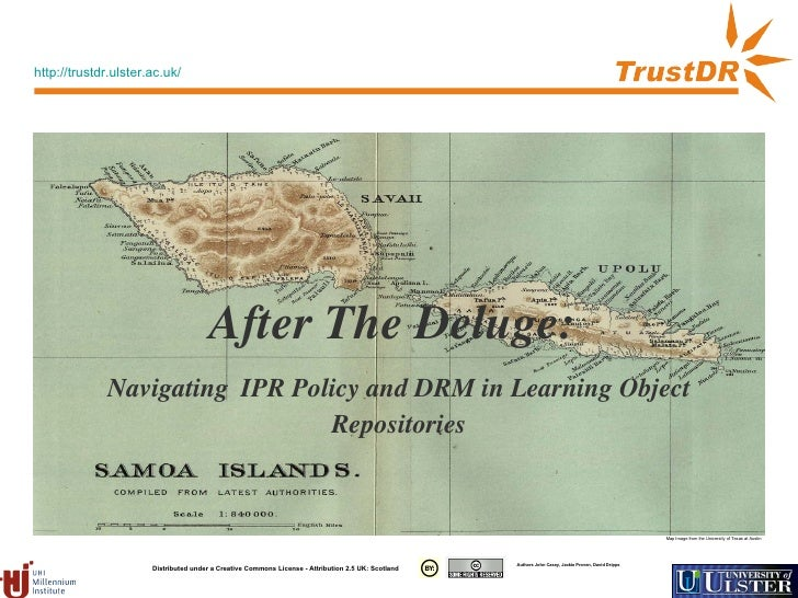 After The Deluge:  Navigating   IPR Policy and DRM in Learning Object Repositories Map Image from the University of Texas ...