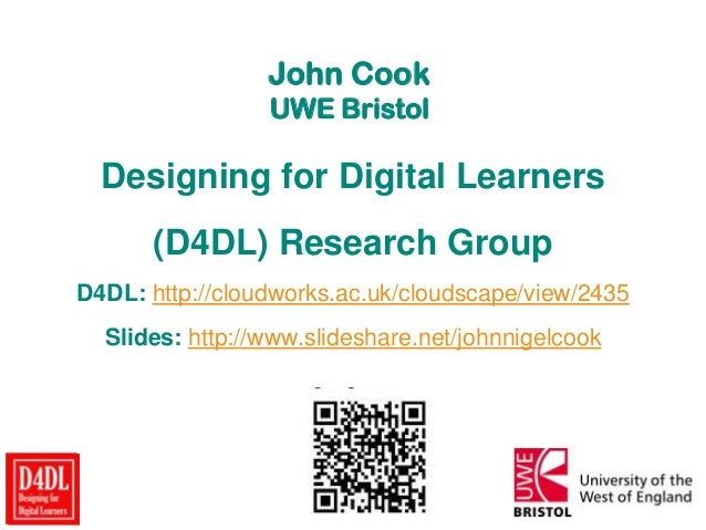 Designing for Digital Learners (D4DL) Research Group overview