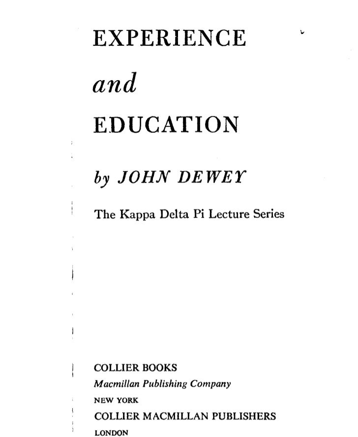 John dewey   experience and education - chapter 2