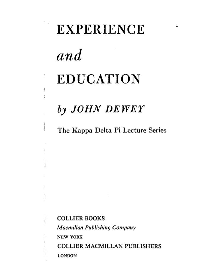 John dewey   experience and education - chapter 3