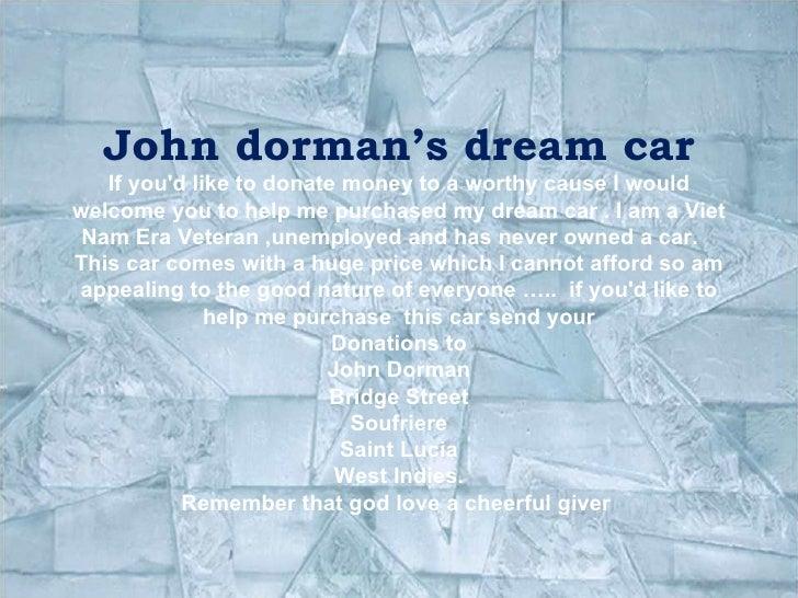 """John Dorman"""" dream  Car"""