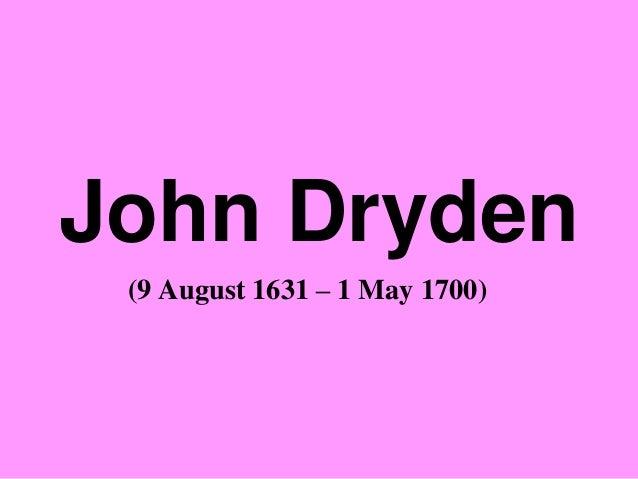 Of Dramatick Poesie, An Essay' - John Dryden(1631
