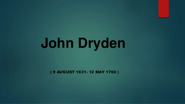 analysis of an essay of dramatic poesy by john dryden