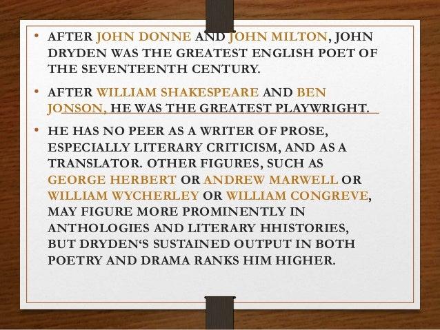 John Dryden religio laici summary