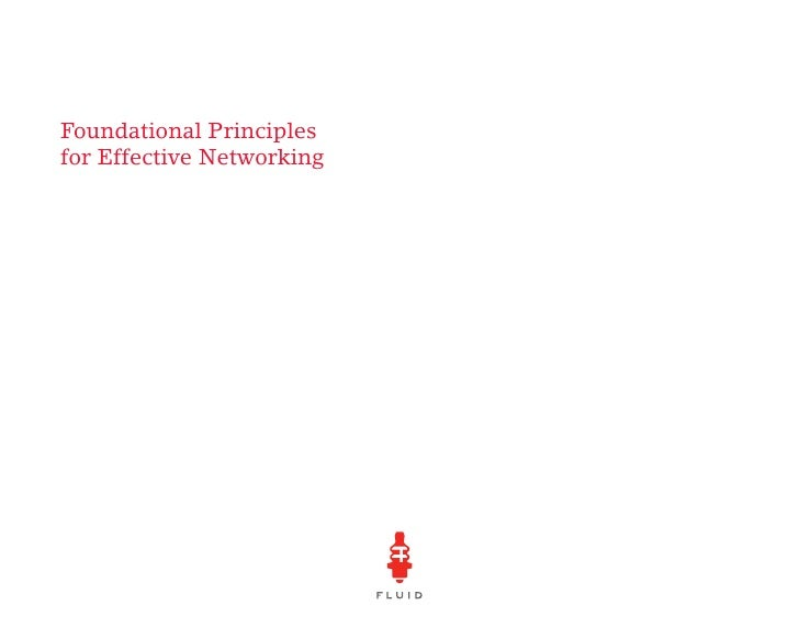 Foundational Principles for Effective Networking