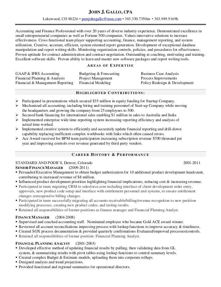 john gallo cpa resume current