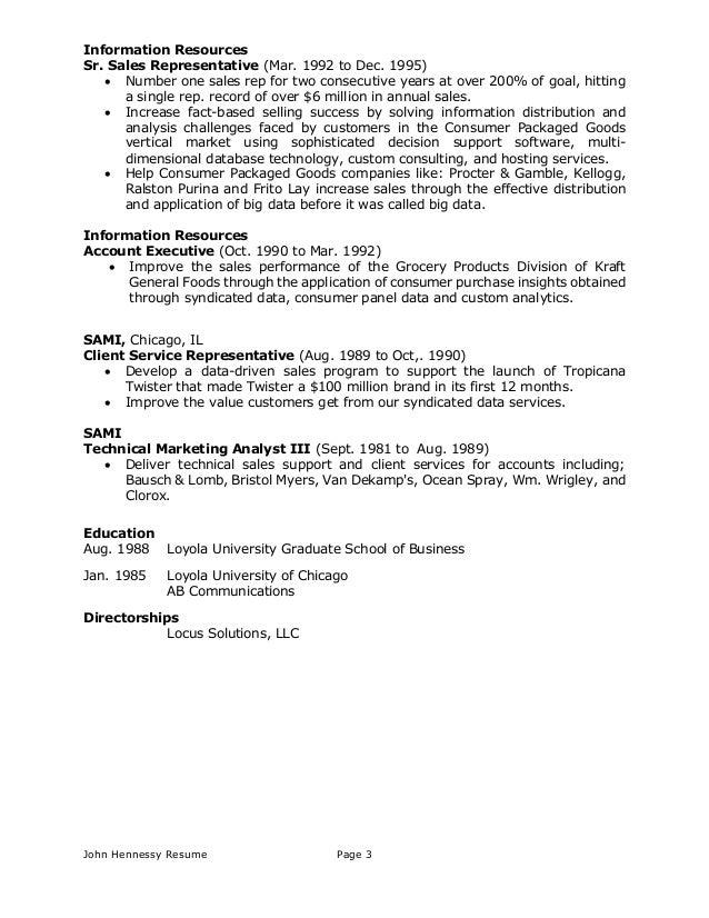 hennessy resume november 2014