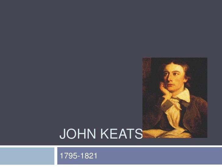 John Keats<br />1795-1821<br />