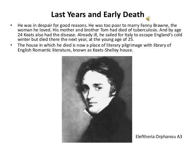 John Keats view on death