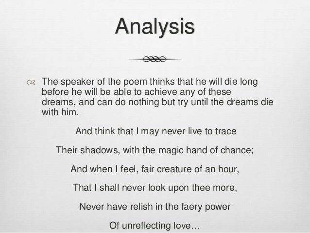 John Keats poetry themes