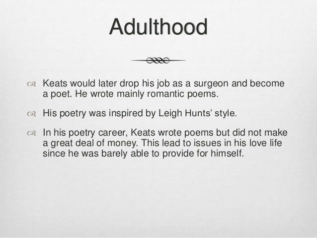 John Keats poems love