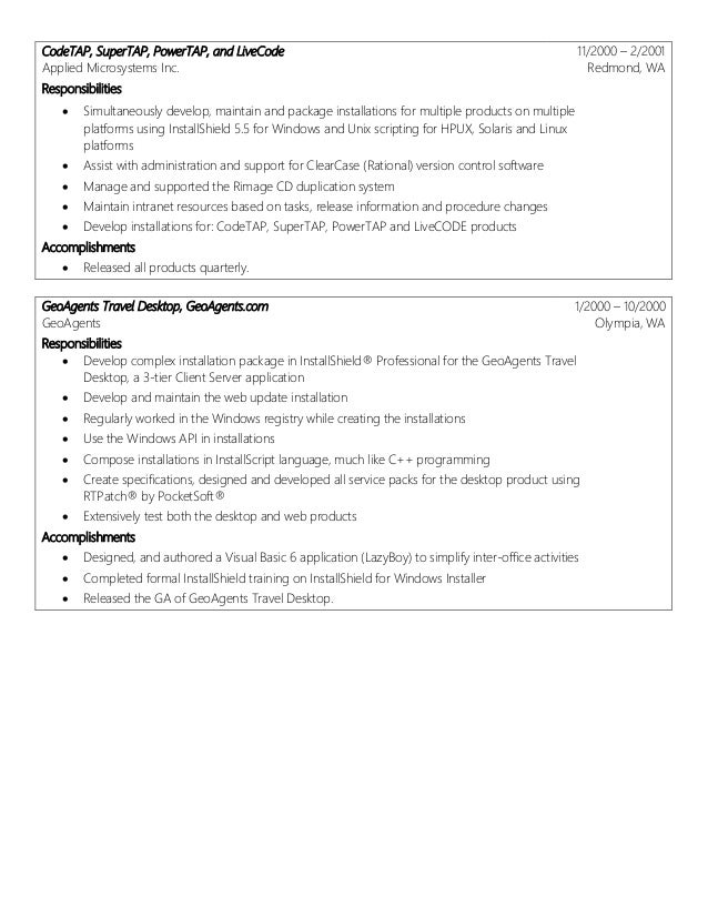 13 sle resume for experienced linux system