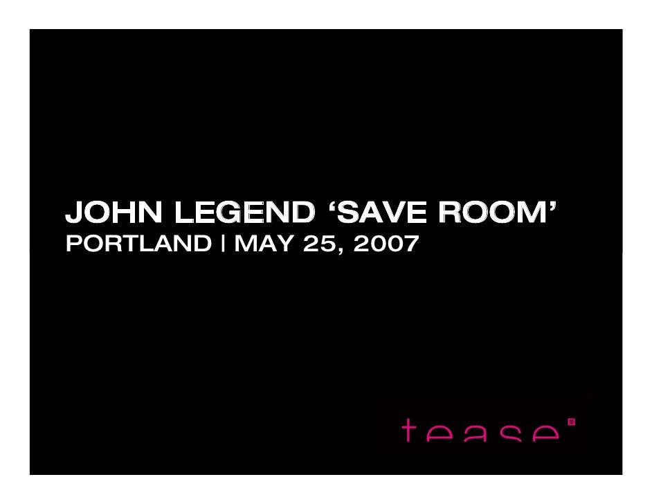 John Legend After-Party PDX Recap