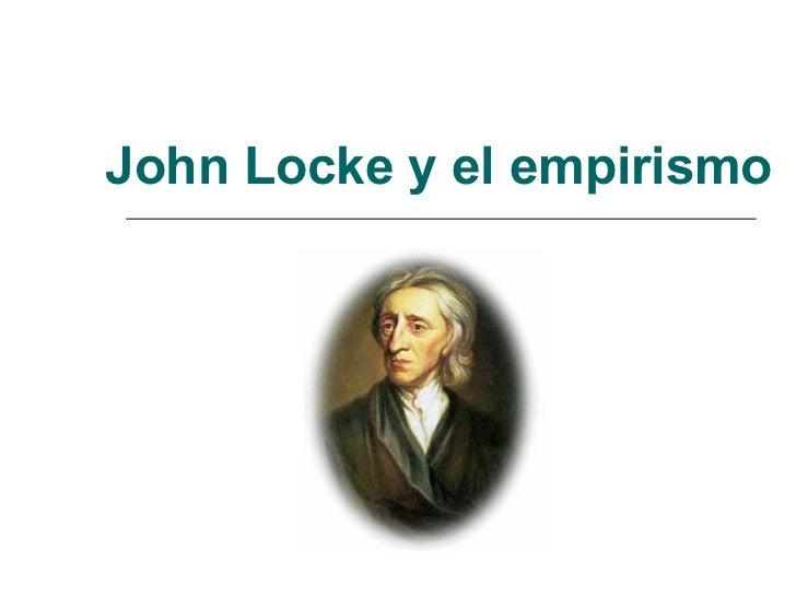 John Locke y el empirismo