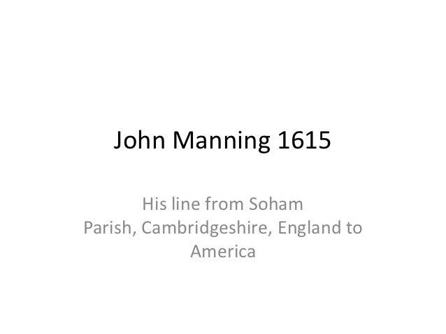 John Manning 1615