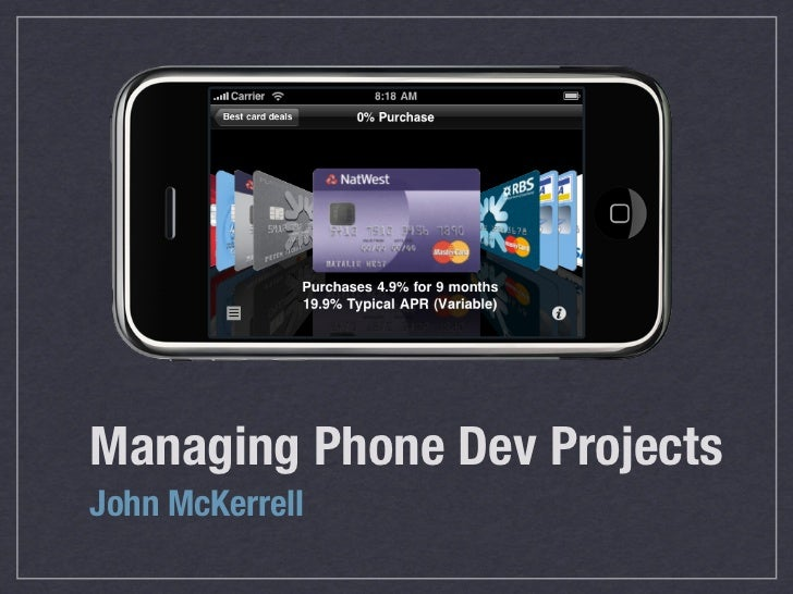Managing Phone Dev Projects