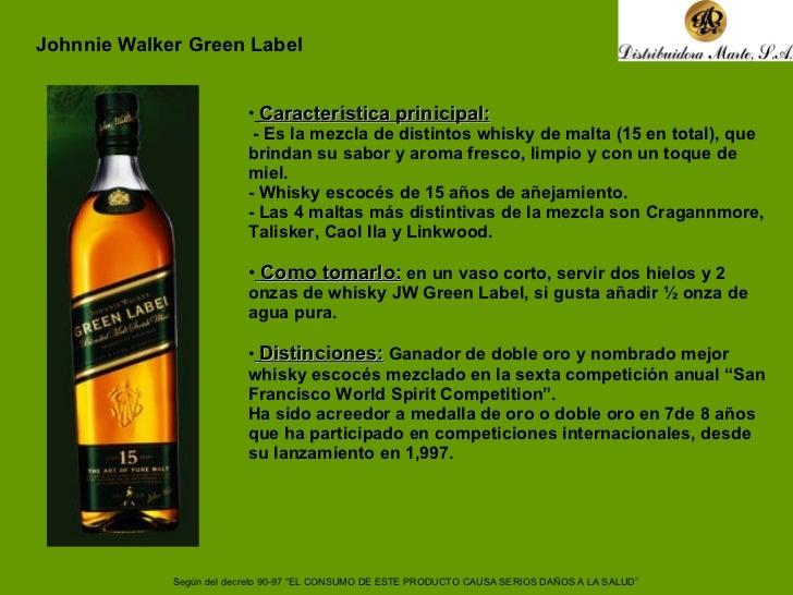 <ul><li>Característica prinicipal:   </li></ul><ul><li>- Es la mezcla de distintos whisky de malta (15 en total), que brin...