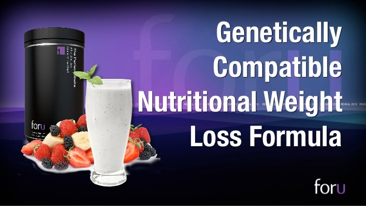 Genetically Compatible Weight Loss Formula