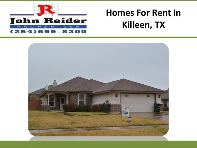 Homes for rent in killeen tx for Home builders in killeen tx