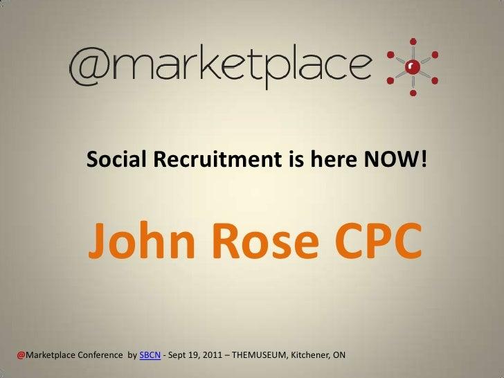 John Rose @Marketplace Presentation