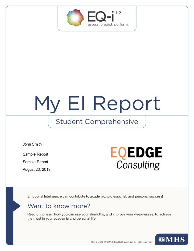 Student Comprehensive Emotional Intelligence can contribute to academic, professional, and personal success! Want to know ...