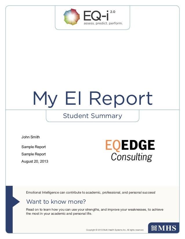 EQ-i Student Summary Report