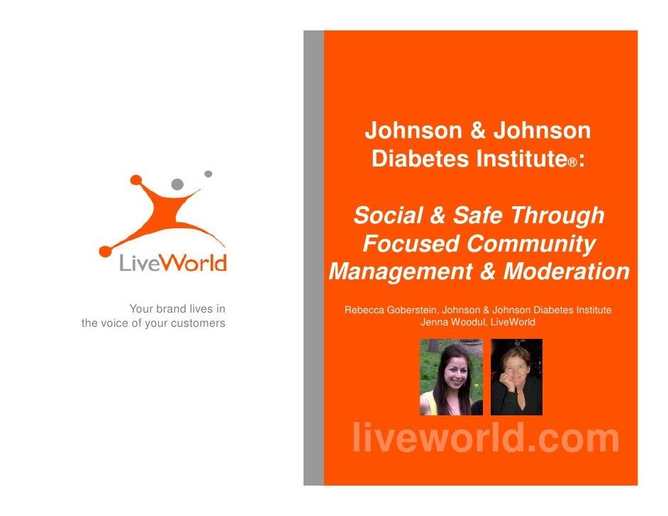 Johnson and johnson diabetes institute community part1 - BDI 5.11.10 Social Communications & Healthcare