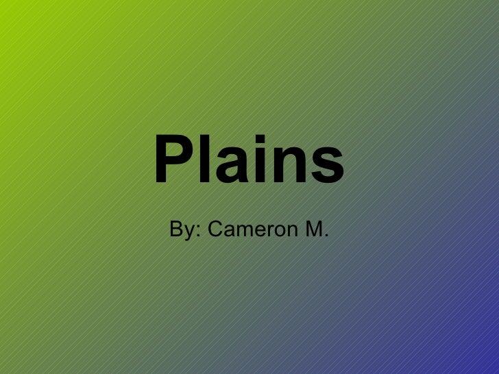 Plains By: Cameron M.