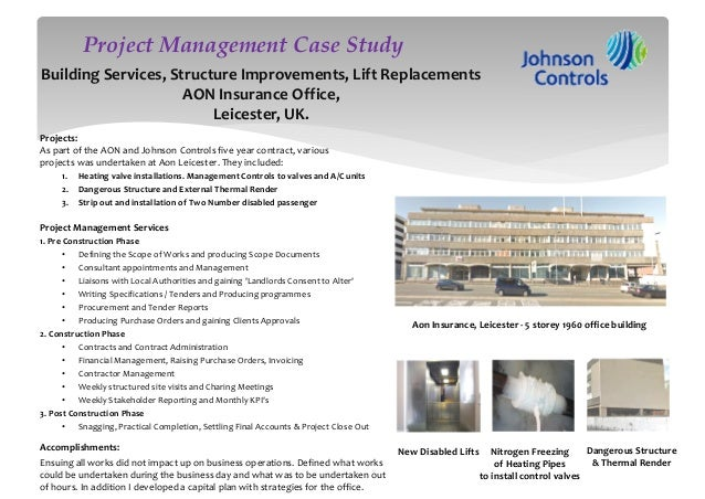 Construction case studies project management