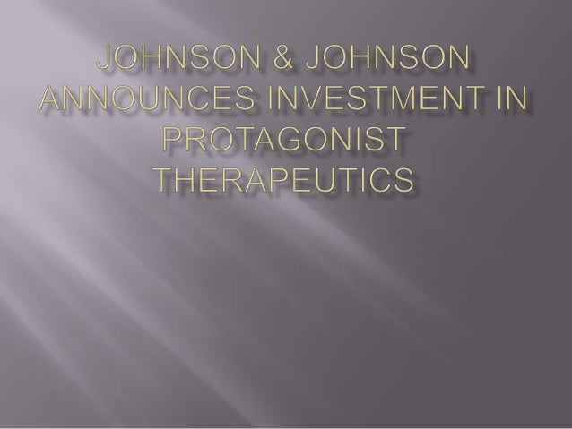 Johnson & Johnson Announces Investment in Protagonist Therapeutics