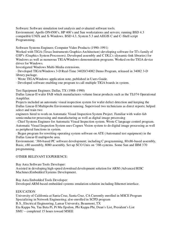 Docsis engineer resume