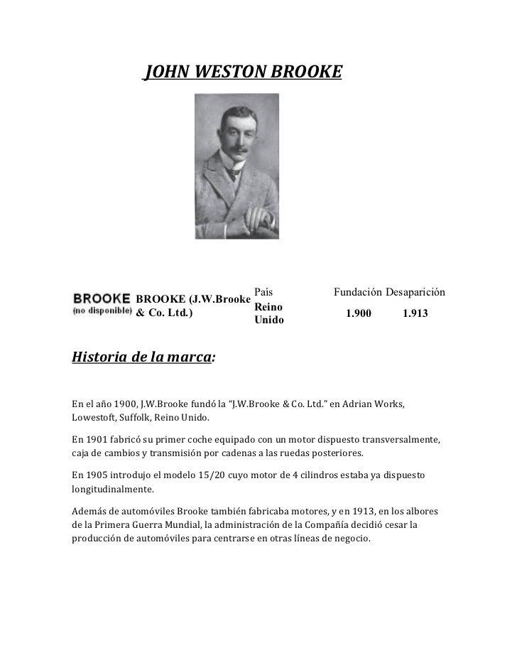 JOHN WESTON BROOKE                                 País                      Fundación Desaparición              BROOKE (J...