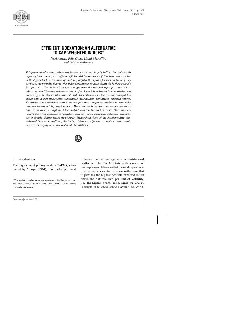 Journal Of Investment Management, Vol. 9, No. 4, (2011), pp. 1–23                                                         ...