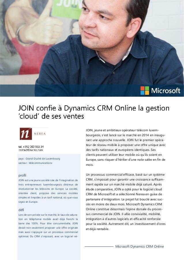 JOIN, jeune et ambitieux opérateur télécom luxem- bourgeois, s'est lancé sur le marché en 2014 en inaugu- rant une approch...