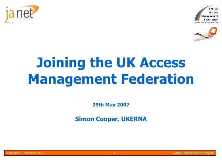 Joining the UK Access Management Federation